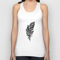 feather Tank Tops featuring feather by Nastya Bo