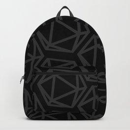 D20 Pattern - Grey & Black Backpack