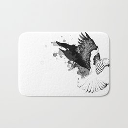 Black Fox winged Magpie Bath Mat