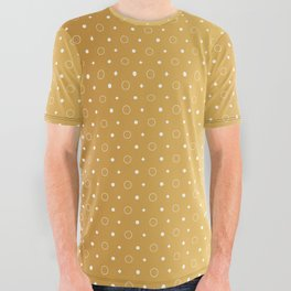 Art Deco, Simple Shapes Pattern 1 [RADIANT GOLD] All Over Graphic Tee