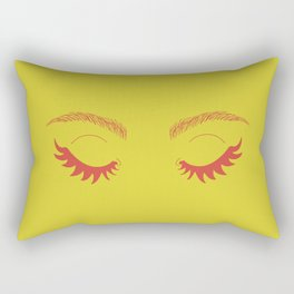 Betty Gone Batty (Red on Chartreuse Edition) Rectangular Pillow