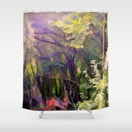 Go Deeper Into The Woods Shower Curtain