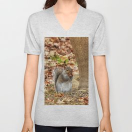Hungry Squirrel Unisex V-Neck