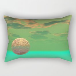 Pleasure, Abstract Green and Gold Completion Rectangular Pillow