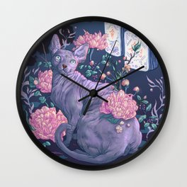 Midnight Sphynx Wall Clock