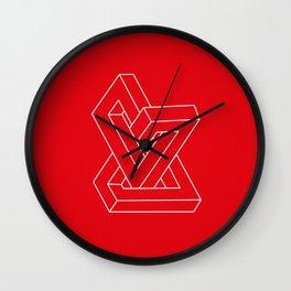 Optical illusion - Impossible figure Wall Clock