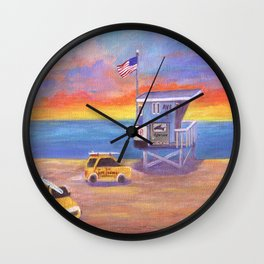 Redondo Beach Lifeguard Tower Wall Clock