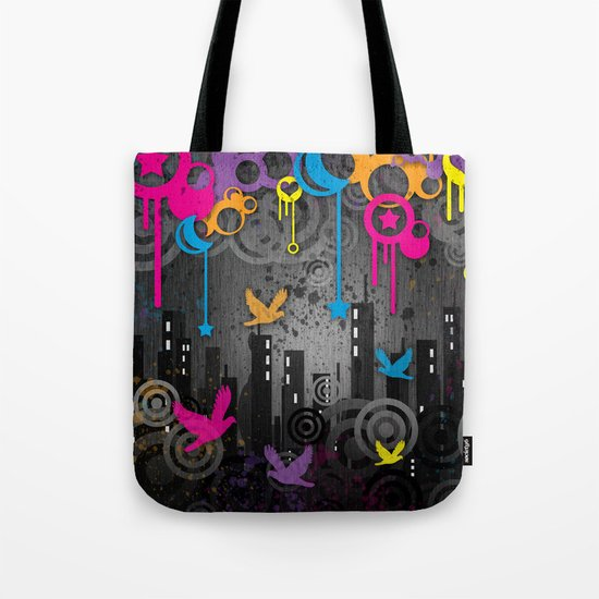 Vector City Grunge. Tote Bag