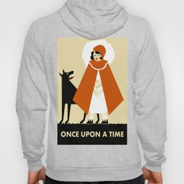 Naive art deco Little Red Riding Hood Hoody