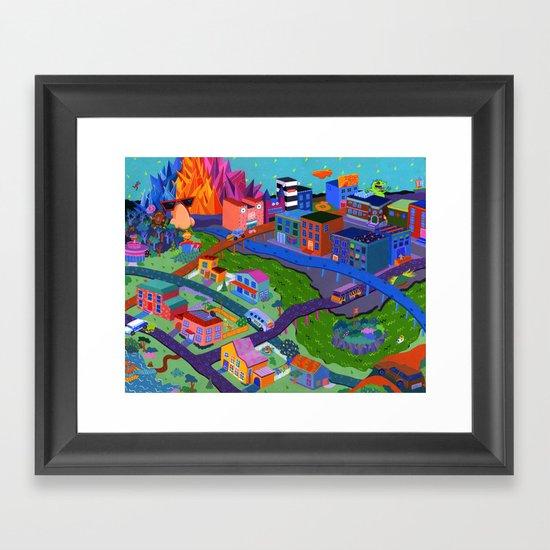 Local Flavor Framed Art Print