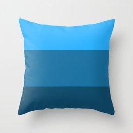 Blue Gradient Pattern Throw Pillow