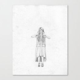 Exposure, pencil illustration Canvas Print