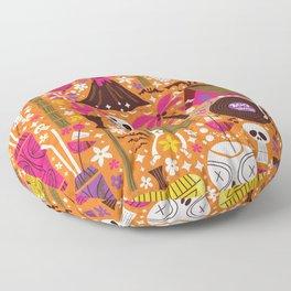 Tiki Freaks do the Hulaween Floor Pillow
