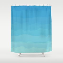 Powder Blue, Periwinkle Lacey Waves Shower Curtain