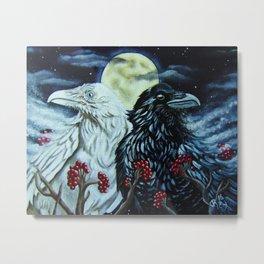 Spirit Ravens Metal Print
