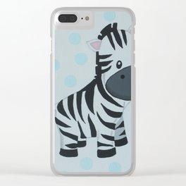 Baby zebra Clear iPhone Case
