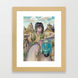 Lost road Framed Art Print
