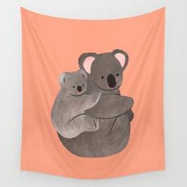 Piggyback Koala Wall Tapestry