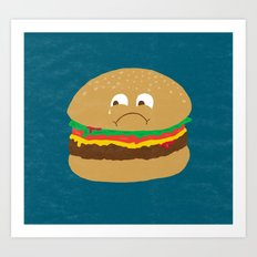 Sad Hamburger Art Print