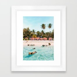 Pig Beach 2 Framed Art Print