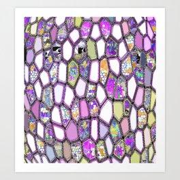 Purple-ish Cells Art Print