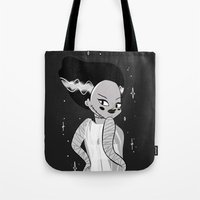 rockabilly Tote Bags featuring Rockabilly heads by StephanieDulieu