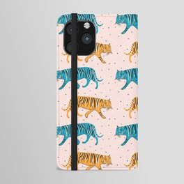 Pop Tigers on blush iPhone Wallet Case