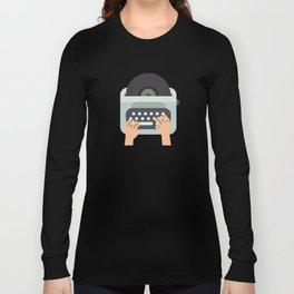 Vinyl Typewriter Long Sleeve T-shirt
