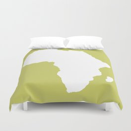 Khaki Audacious Africa Duvet Cover