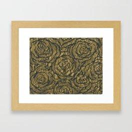 Intense Rose Print on Textured Canvas Framed Art Print