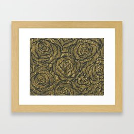 Intense Rose Print on Textured Canvas Framed Art Print
