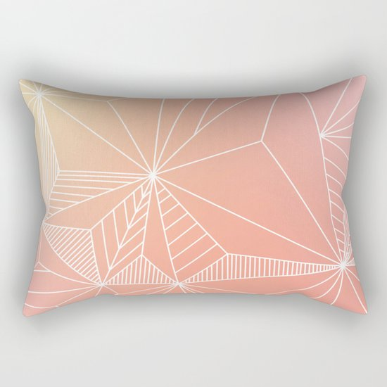 Paradise Geo Blush Rectangular Pillow
