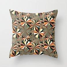 fun geometry Throw Pillow