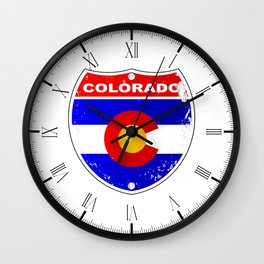 Colorado Interstate Sign Wall Clock