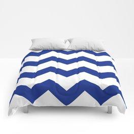 Blue Chevron Comforters
