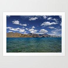 Evening Blues...Pangong Lake Art Print