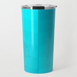 Blue Giraffe Background Travel Mug