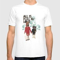 ALL IS FULL OF LOVE MEDIUM Mens Fitted Tee White