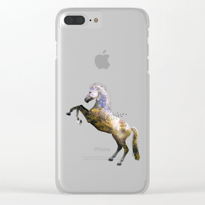 Horse view VI Clear iPhone Case