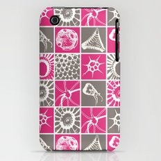 Microscopic Life Sillouetts Pink and Gray Slim Case iPhone (3g, 3gs)