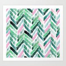 Tropical Vibrations - Emerald Pink Art Print