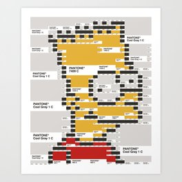 Bart as pixel Art Print