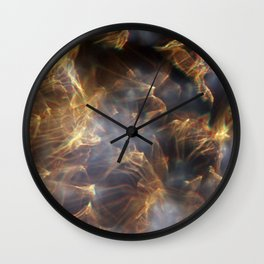 Glassy Refraction 1 Wall Clock