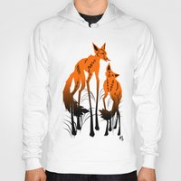 foxes Hoodies featuring Foxes by AmKiLi