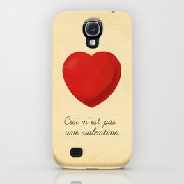 Ceci n'est pas une valentine (this is not a valentine) iPhone Case