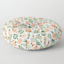 Vintage Ornaments Floor Pillow