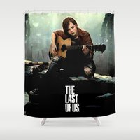 last of us Shower Curtains featuring The Last of Us Grown Ellie by fardeen