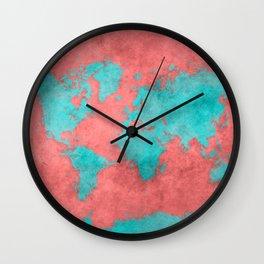 world map 40 Wall Clock