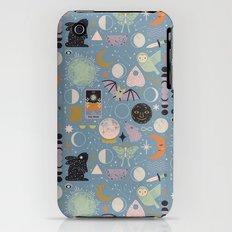 Lunar Pattern: Blue Moon iPhone (3g, 3gs) Slim Case