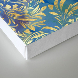 Blue Gold Swirls #2 Canvas Print